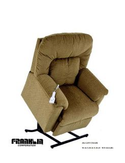 Franklin Corp Lift Recliner Chair Havana Pattern 498 LP 3726 15