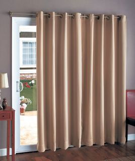 CURTAIN PANEL DRAPE VALANCE GROMMET WINDOW PATIO DOOR BROWN SAGE