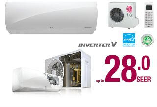 9000 BTU LG Ductless Mini Split Air Conditioner SEER 28 0 Super High