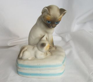 and Kitten Mann Music Box You Light Up My Life Mintcondition