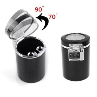 Car Cup Holder Fireproof LED Light Smokeless Ashtray