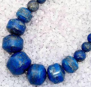Jay King Mine Finds Massive Huge Graduated Blue Lapis Bead Sterling