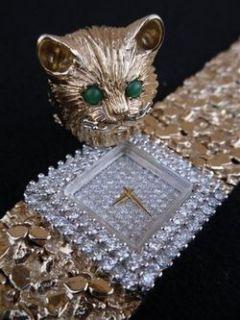 Liberaces Personal Favorite Nugget Gold Diamond Watch