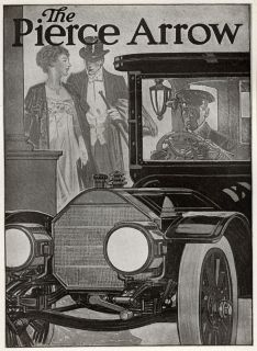 Leyendecker Design Pierce Arrow Authentic 1913 Mini Poster