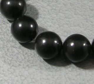 Natural Jet Loose Beads Lignite Big 15mm Round Gemstone 16 Top