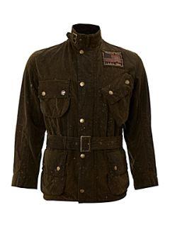Barbour Steve McQueen Waxed Steve McQueen macgrain splatter jacket Olive