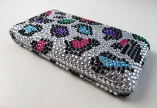 Colorful Leopard Diamond Bling Hard Case Cover LG Lucid 4G VS840 Phone