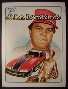1988 Lil John Lombardo Funny Car Press Kit Folder Jon Jodauga Art