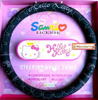 Authentic Hello Kitty Cat Car Truck Steering Wheel Holder Cover♥