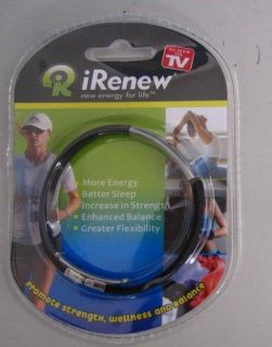Irenew Magnet Energy Power Silicone Stainless Steel Bracelet