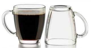 Libbey Tempo 14oz Square Glass Coffee Mug 4pc Set New