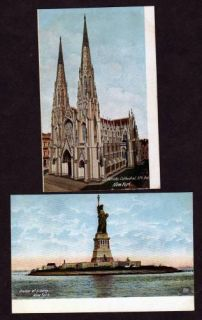 Vintage UDB Views New York City Postcards NYC Statue of Liberty