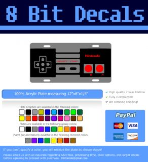 Nintendo NES Paddle Controller License Plate Auto Tag