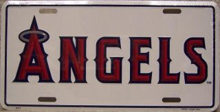 MLB Aluminum License Plate Anaheim Angels New