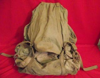 US GI ISSUED FRAMED CANVAS RUCKSACK PACK BAG LICHTENBERGER FERGUSON CO
