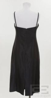 Lida BADAY Midnight Blue Sleeveless Sheath Dress Size 10