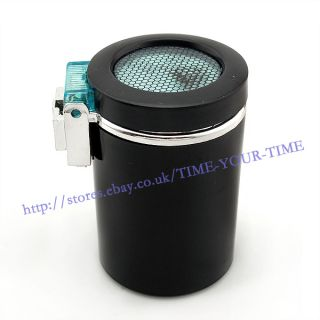 Portable Car Ashtray vehicle Cigarette Holder With LED Light Black