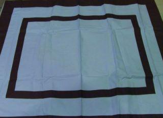 Restoration Hardware Baby and Child Blue Brown Pillow Sham 26 x 20