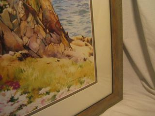 Linda Erfle Ocean Scene Watercolor Framed Art