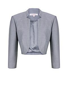 Jacques Vert Metal grey shimmer bolero Grey