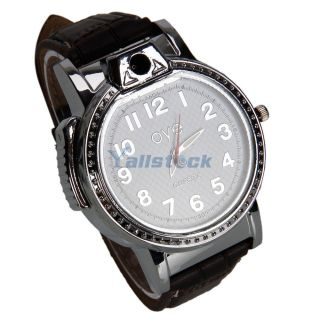 Watch Style Refillable Butane Cigarette Lighter White