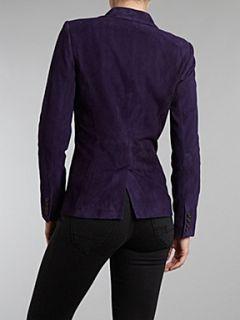 Lauren by Ralph Lauren Valerine suede jacket Dark Purple
