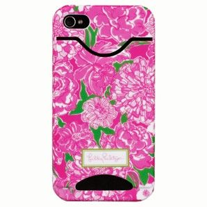 Lilly PULITZER iphone case COVER 4/4S with Credit Card/I.D. Slots *May