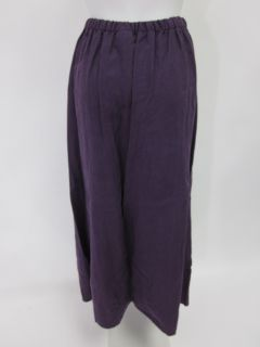 Eileen Fisher Purple Linen Full Length A Line Skirt 1x