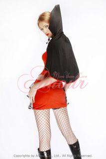 Sexy Vampire Duke Costume Deluxe Dress /w Hat & Gloves 4 Ppcs 2 way