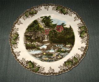Johnson Brothers FRIENDLY VILLAGE 10.5 Dinner Plate, Lily Pond (Older
