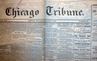 1867 Chicago Tribune Newspapers Illinois Pre Fire 145 Years Old