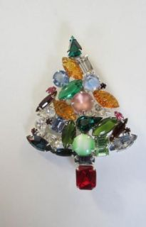 Willian de Lillo Christmas Tree Brooch Large