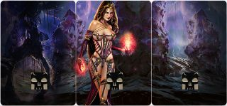 Altered Art Sexy Liliana of The Veil Swamp Panoramic Basic Lands