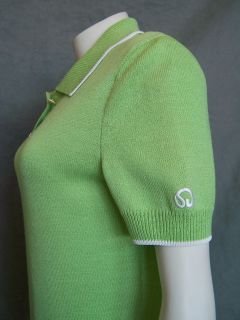 Spring Chic St John Collection Lime Green Santana Knit Polo Resort
