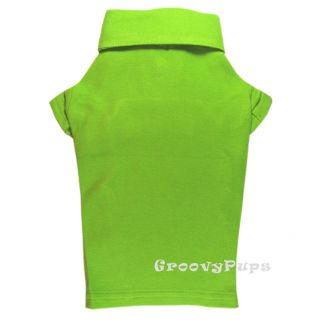 760 XS L Lime Green Cotton Mesh Polo Shirt Dog Clothes