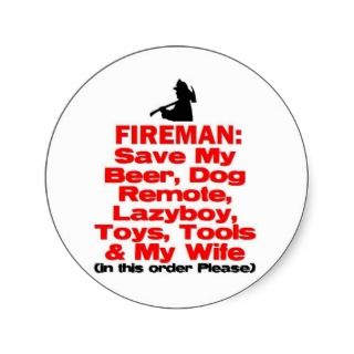 Funny Fire Safety Stickers