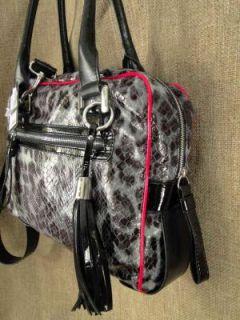 Guess Lindsey Black Print Shoulder Bag