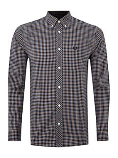 Fred Perry Long sleeved checked shirt Steel