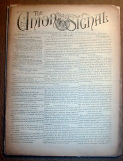 Newspapers for Prohibition The Union Signal Chicago Illinois