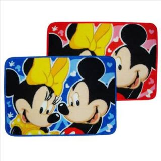 Disney Mickey Minnie Bath Area Rug Mat Carpet Red