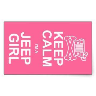 Keep Calm Im A Jeep Girl   Jeep Wrangler YJ Sticker