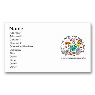 the Earth T shirts and GIfts Business Card Templates