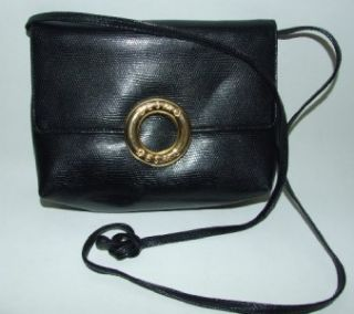 Desmo Black Textured Leather Shoulder Bag Purse Handbag