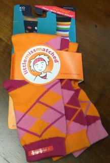 Little Miss Matched Pink Orange Argyle Socks Littlemissmatched Sandals