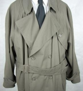 Alexander Lloyd Executive Separates Mens Cotton Poly Trench Coat Size
