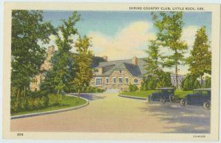 B0107 Autos Shrine Country Club Little Rock AR Postcard