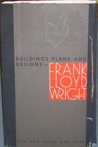 Frank Lloyd Wright Perspective and Plans w E Martin House Illinois