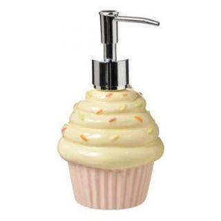 Cupcake Liquid Hand Soap Dispenser Kitchen Bath Pink Cream Birthday