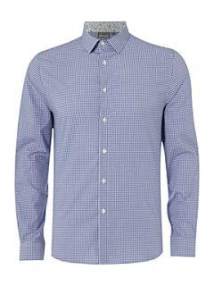 Linea Mini check formal shirt Cobalt
