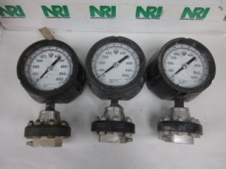 Ashcroft Liquid Filled Pressure Gauge with Diaphragm 0 140PSI 4in Dial